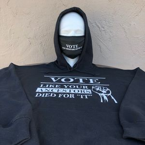 Get out and VOTE Hoodie and Facemask Combo's